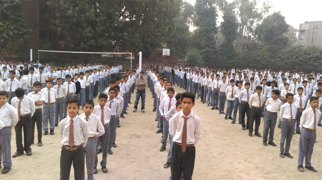 Morning assembly in the school